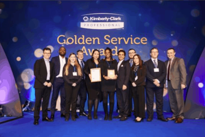 Cleanology is a double winner at prestigious Kimberly-Clark Professional™ Golden Service Awards 2020